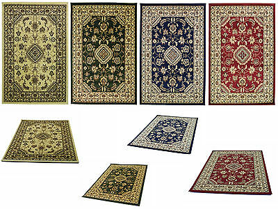 New Small X Large Wool Look Traditional Floral Classic Persian Hand Carved Rugs