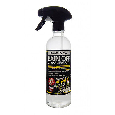 Power Maxed - Rain Off Glass Sealant 500Ml - Water Blows Off With Speeds 30Mph+