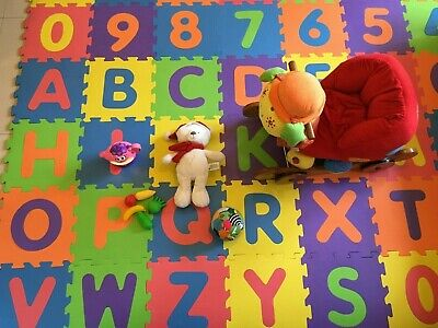 36pcs LARGE Alphabet Numbers EVA Floor Mat Baby Room Jigsaw Mat Soft Foam Puzzle