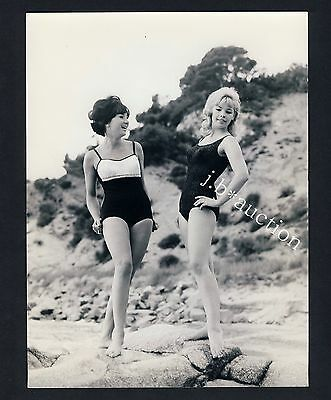 Mode WOMEN IN SWIMSUIT / FRAUEN IM BADEANZUG Fashion * Vintage 50s SEUFERT Photo
