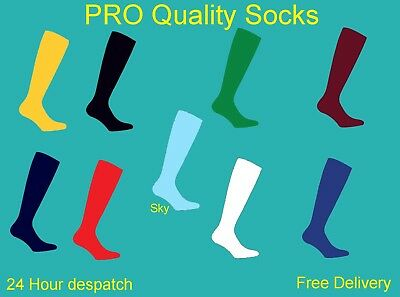 Prostyle Football Plain Socks Rugby Hockey Soccer Free Delivery Mens Womens Kids