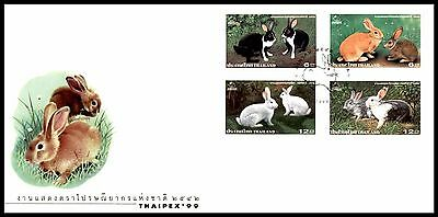 Thailand 1999 Thaipex Stamp Exhibition. Rabbits FDC