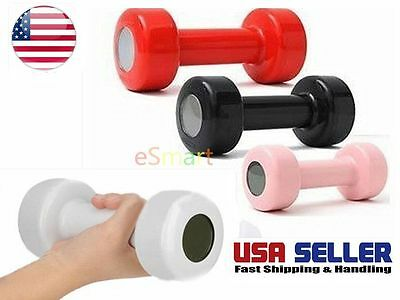 Dumbbell Shape Alarm Clock Lift Up 30 Times Morning Workout Keep Fit Gift