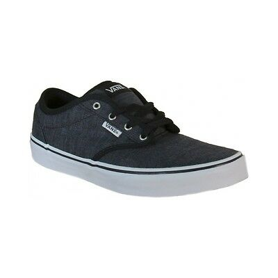 Vans Atwood Distress Canvas Junior Black   White Sneakers VN0003Z9IQ4 d528308dc