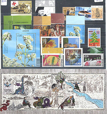 Cyprus 2013 Complete Year Sets Mnh Stamps