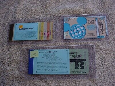 Disney World Vintage  Tickets - Complete '72  First Year -  '76 Booklet + Rare..