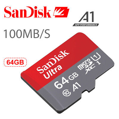 NEW !!! SanDisk Ultra 64GB Micro SD SDXC UHS-I Class10 Memory Card - 100 MB/s