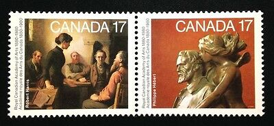 Canada #849-850a DF MNH, Academy of Arts Pair of Stamps 1980