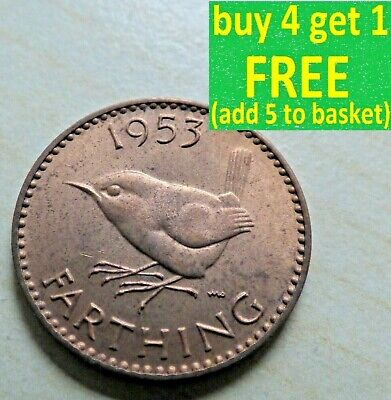 Elizabeth II Farthing Choice of Dates 1953 - 1956  Pick Your Own
