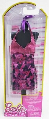 Mattel BCN46 Barbie Single Fashion Outfit for Doll - PINK BLACK HEARTS