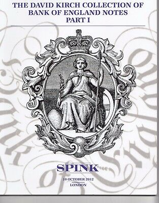 Spink  Bank Of England Notes 10 Oct 2012 London
