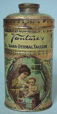 Ultra Rare! Vantines Powder Advertising Tin Gorgeous Graphic Mother & Child Mint