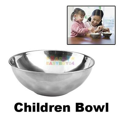 Children Anti-Rust Stainless Steel Smooth Rolled Edge Resistant Safe Kids Bowl
