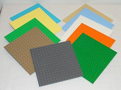 NEW LEGO 16X16 Base Plates X1 Tan Gray White Green Yellow Blue 91405