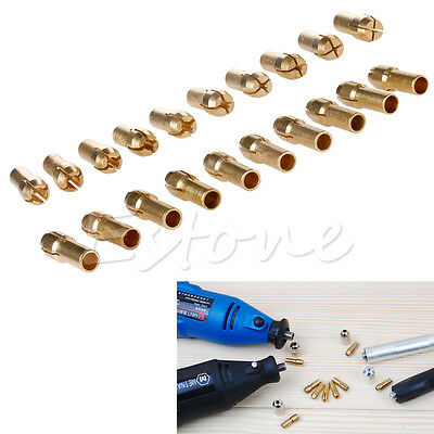 10x Brass Drill Chucks Collet Bits 0.5- 4.8mm Shank electric grinder Rotary Tool