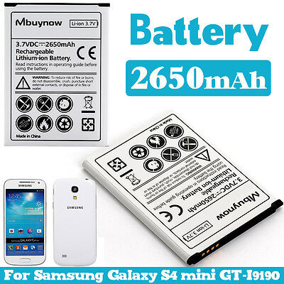 2650 mAh Extended Replacement Battery for Samsung Galaxy S4 mini GT-i9190 i9195