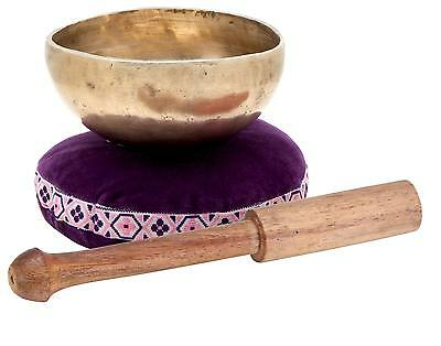 Tibetanian Singing Bowl 10Cm Percussion Instrument Musictherapy Pillow Stick Set