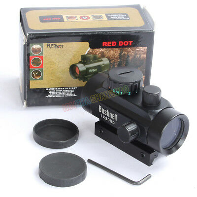 Hunting 1X30 Red/Green Dot Scope Telescopic Sight 20mm Picatinny/11mm Rail Mount