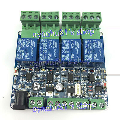 DIY Modbus RTU 4Way Relay Module STM8S103 System 4Road Input 485 Communication