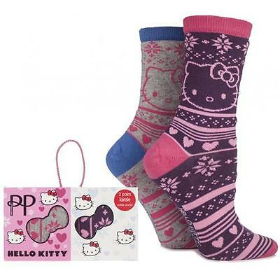 Hello Kitty - Fairisle Pretty Polly Twin Pack Sock Set - New & Official In Box