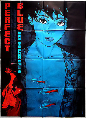 1999 PERFECT BLUE Satoshi Kon anime Beautiful Art French 47x63 film poster