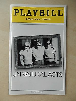 June 2011 - Classic Stage Theatre Playbill - Unnatural Acts - Max Jenkins