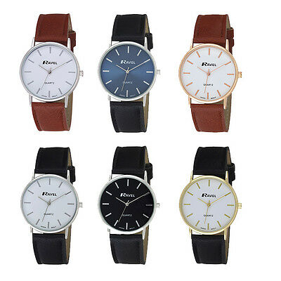 Ravel Gents / Mens Classic Leather Strap Watch R0129