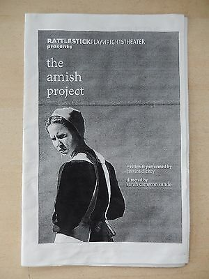 2009 - Rattlestick Playwrights Theatre Playbill - The Amish Project - Dickey
