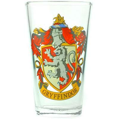 Harry Potter - Gryffindor Crest Pint Glass Tumbler - New & Official In Box