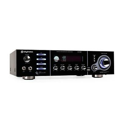 Skytronic Av-320 5 Channel Home Hifi Karaoke Amplifier Mic Usb *free P&p Offer