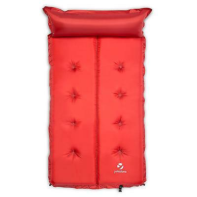 Pro Comfort Double Self Inflating Mat Camping Beach Sand Pad * Free P&p Uk Offer