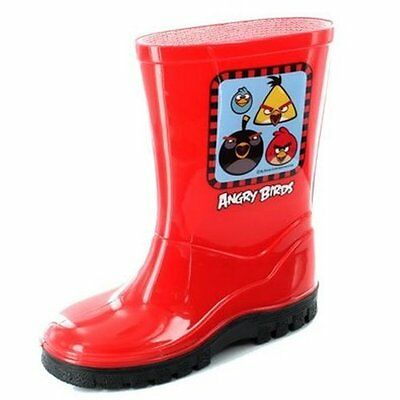 Kids Angry Birds Red Wellingtons Sizes 6-12 Wellies Welly Boot Boys Girls