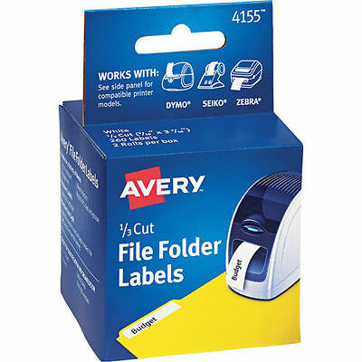 Avery Thermal Label Printer Tape 1/3 Cut White 260ct