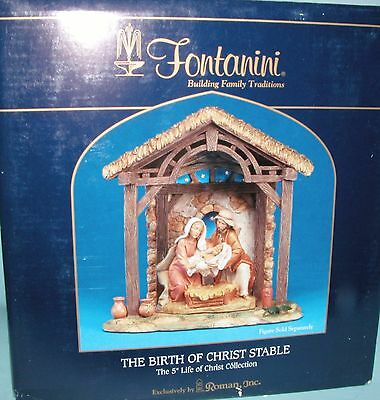 Fontanini Nativity #50613 Stable only, resin Birth of Christ 5 in. series NIB