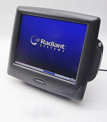 """Radiant P1520-0114 Workstation 15"""" LCD POS MSR Touchscreen Terminal+P703 Display"""