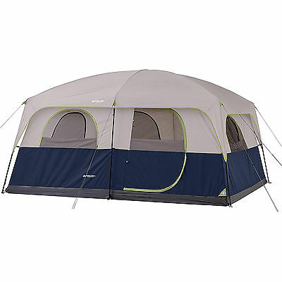 Cabin Tent Camping 10 Person 2 Room Outdoor Family Large Hiking Travel Shelter