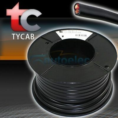 6MM x 30M TWIN CORE CABLE ROLL SHEATH WIRE DUAL BATTERY 12V 2 50 AMP