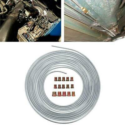 "Zinc Steel Brake Line Tubing Kit  3/16"" ODx25 Ft Roll With 15 Assort Fittgs"