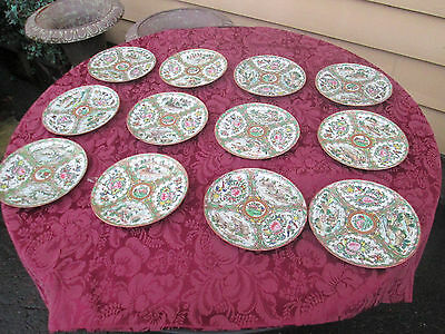 COL01 Lot 12 Antique Chinese Export Plates Plate s