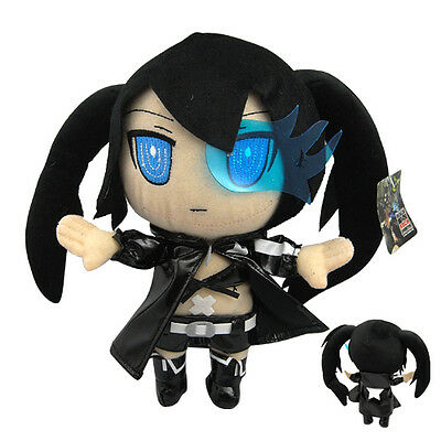 "New! Anime Black Rock Shooter 25cm/10"" Soft Plush Toy Doll Kids Gift"