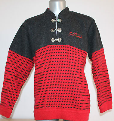 Mens TELEMARK Sweater Nordic Norway 100% WOOL Dale Of. Size M 59 Cm Armpit to A.