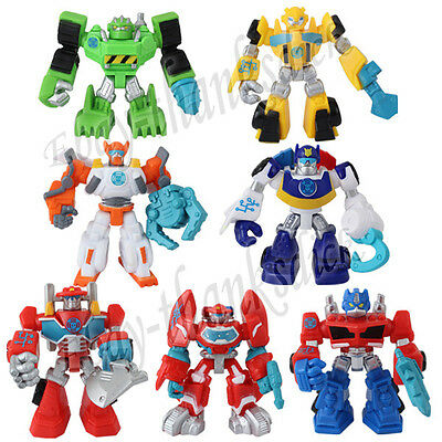 Set of 7pcs Transformers Optimus Prime Autobot Bumblebee 7cm-7.5cm PVC Figure