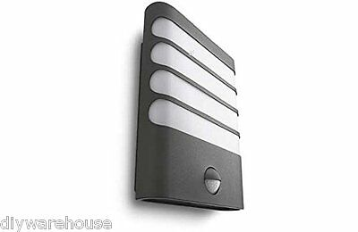 """Philips Superb Quality """"raccoon"""" Garden Contemporary Wall Light Anthracite Ip44."""