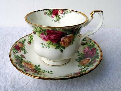 Royal Albert Old Country Roses Coffee Tea Cup & Saucer England Back Stamp