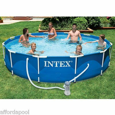 Intex 10ft Diameter x 30in Deep Metal Frame Swimming Pool  With Pump  #28202