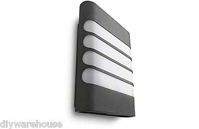 """Philips Superb Quality """"raccoon"""" Garden Contemporary Wall Light Anthracite. New"""