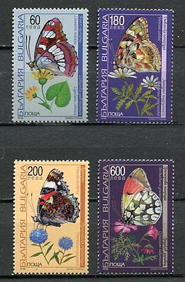 37843) BULGARIA 1998 MNH** Butterflies and flowers 4v