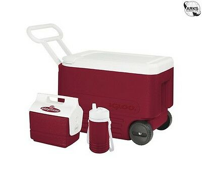 IGLOO Wheelie Cool 38 Coolbox Combi Pack - Red/White - 00010275