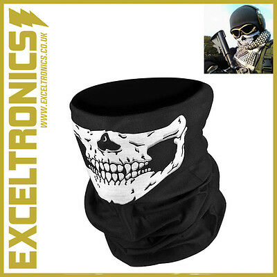 Skeleton Ghost Skull Face Mask Biker Balaclava Call Of Duty Cod Game Costume