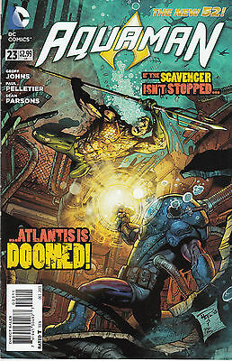AQUAMAN 23...VF/NM...2013...New 52...Geoff Johns,Paul Pelletier...Bargain!